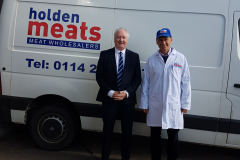 Peter Haslam and Denis Brown from Holden Meats Ltd