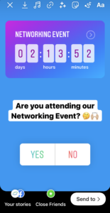 Shelton Associates Instagram Story Countdown and Poll